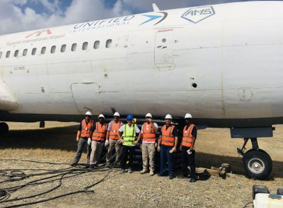 Airbag lift successfully completed