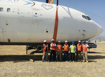 Fuselage Lifting System constructed and aircraft lifted