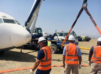 Preparing the Fuselage Lifting Sling for use